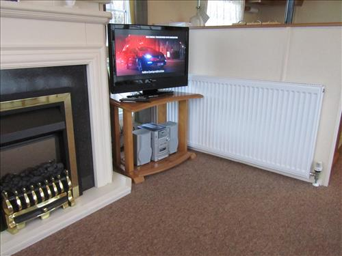 TV area. with DVD and stereo radio/cd